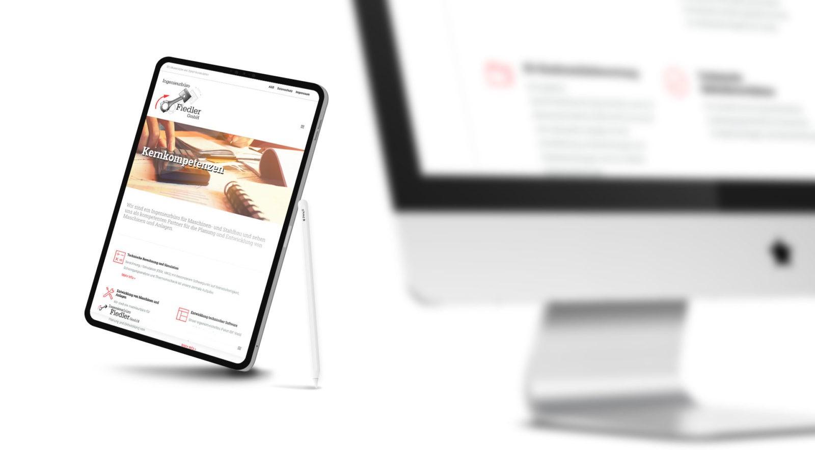 Responsive Webdesign für Ingenieurbüro Fiedler GmbH