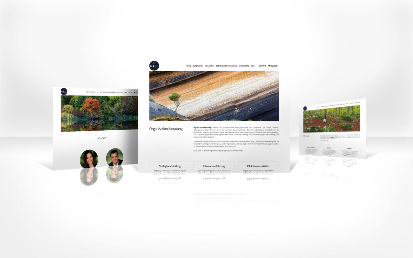 Schönes Webdesign REG.CO.AT - Reflektieren.Entwickeln.Gestalten.