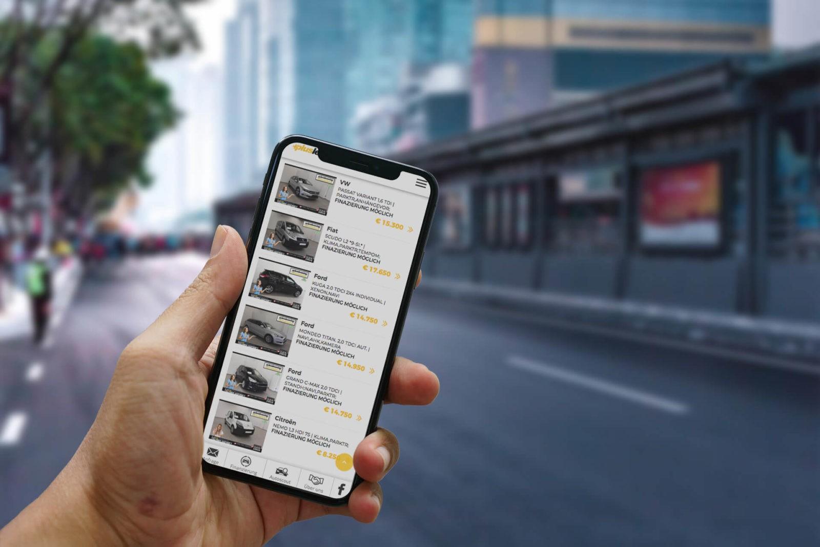 +Plusleasing.at | mobile Ansicht für Gebrauchtwagen