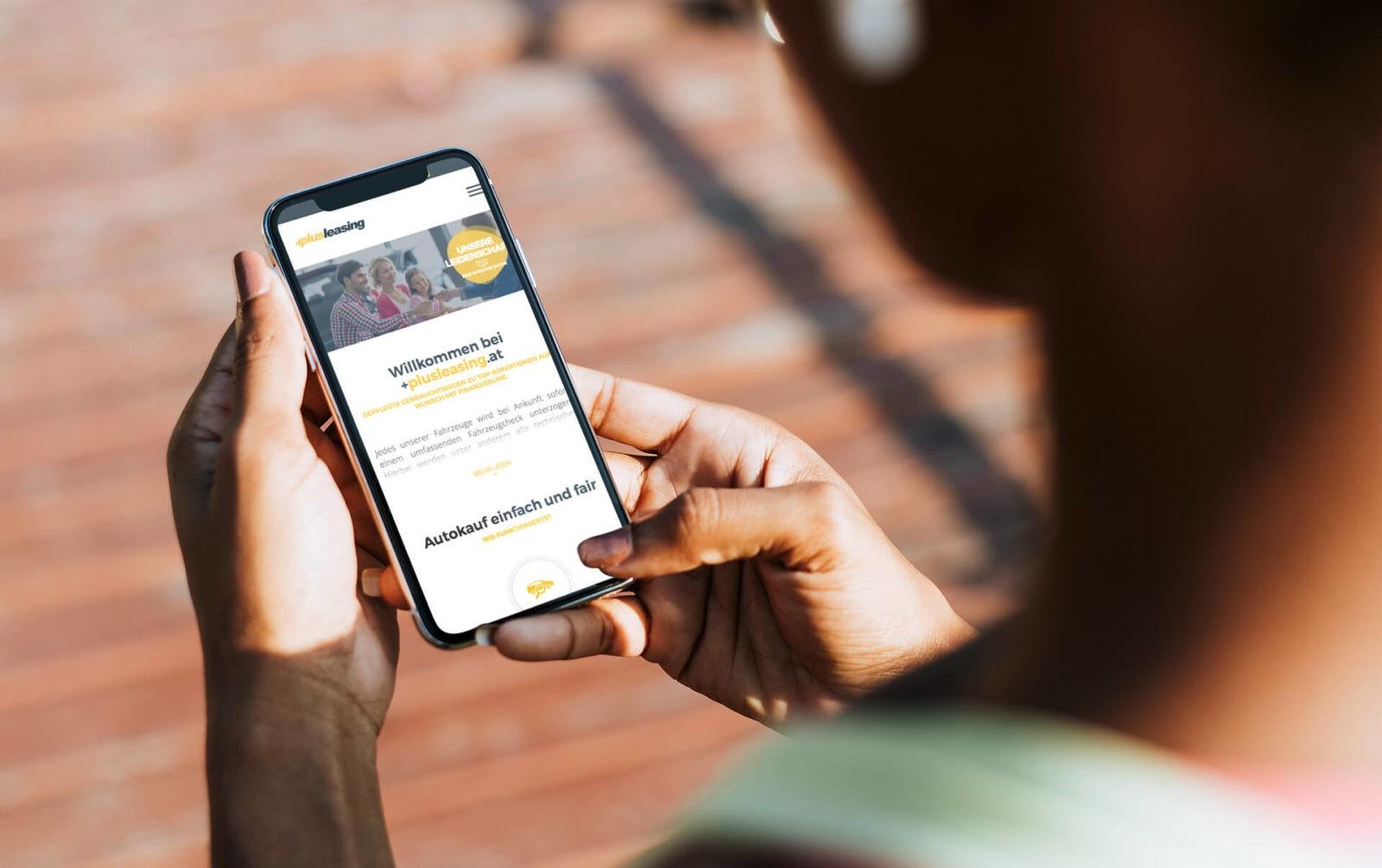 +Plusleasing.at   mobile Ansicht Startseite