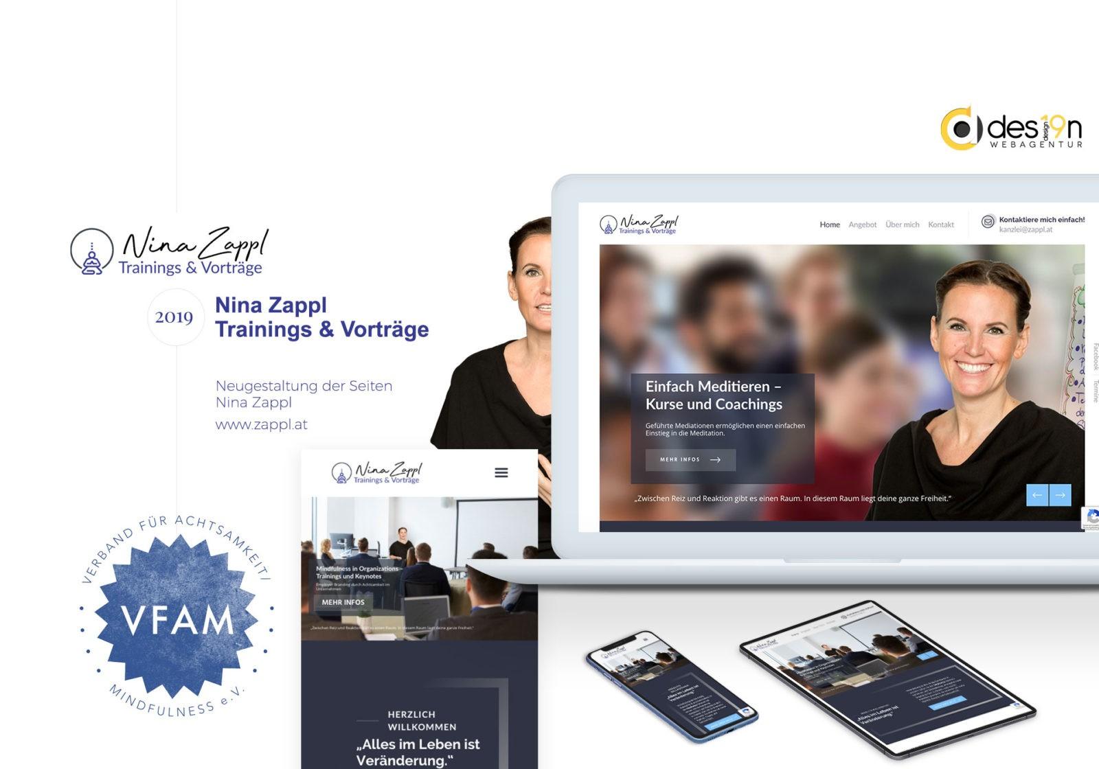 Webdesign Nina Zappl | Trainings & Vorträge für Achtsamkeit und Meditation