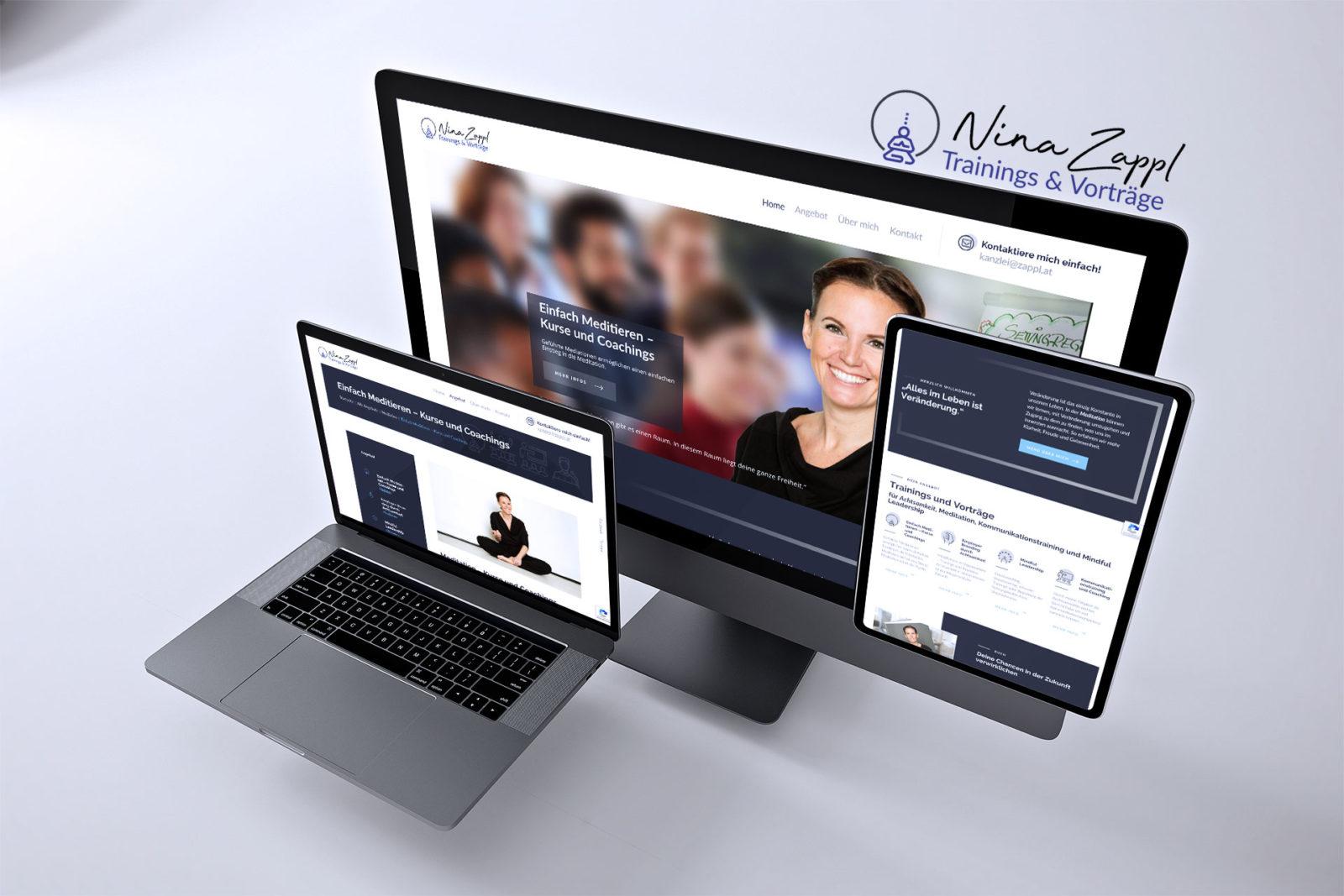 Webdesign Nina Zappl - Autorin, Diplomierte Kommunikationstrainerin