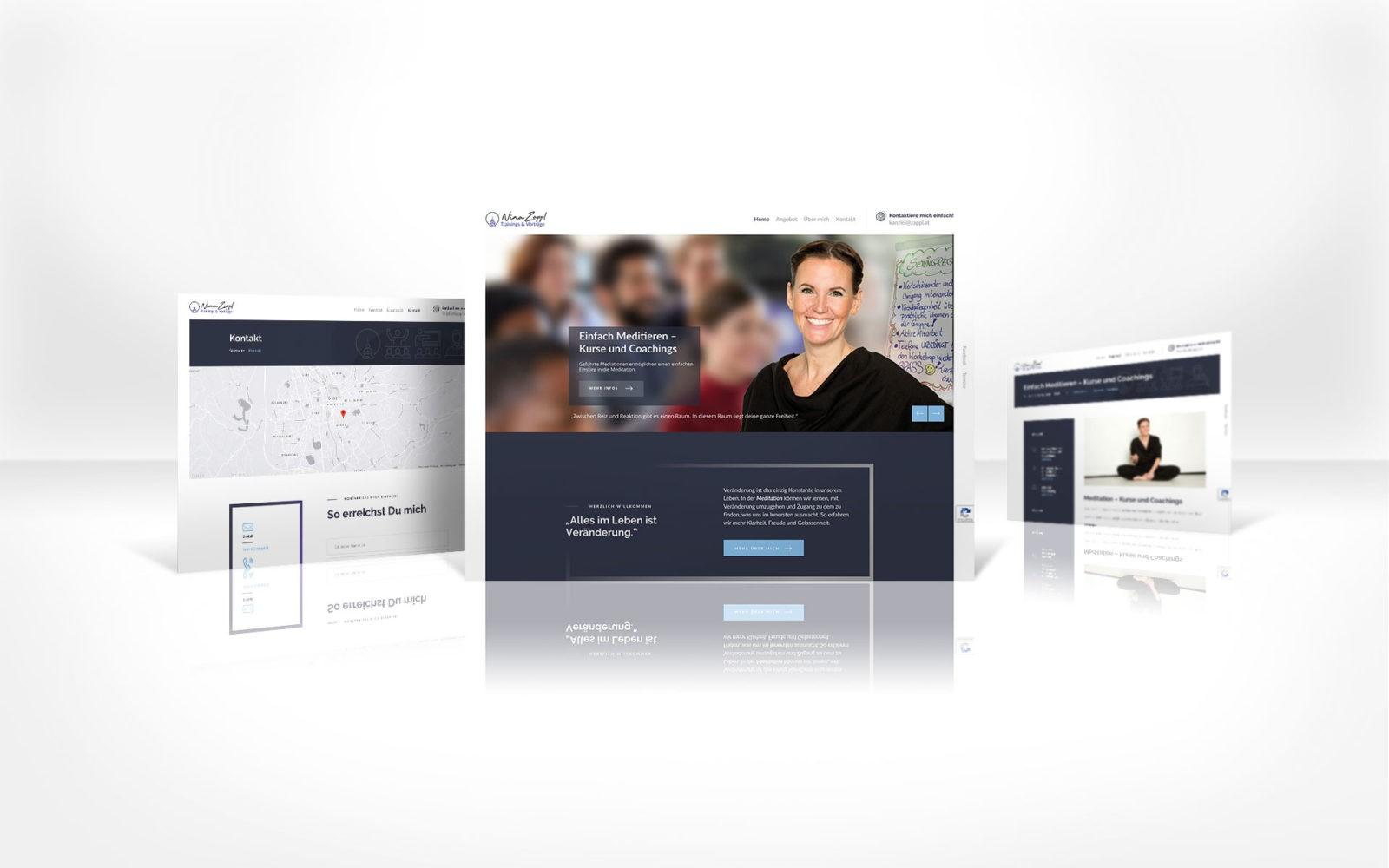 Webdesign Nina Zappl - Autorin, Kommunikationstrainerin