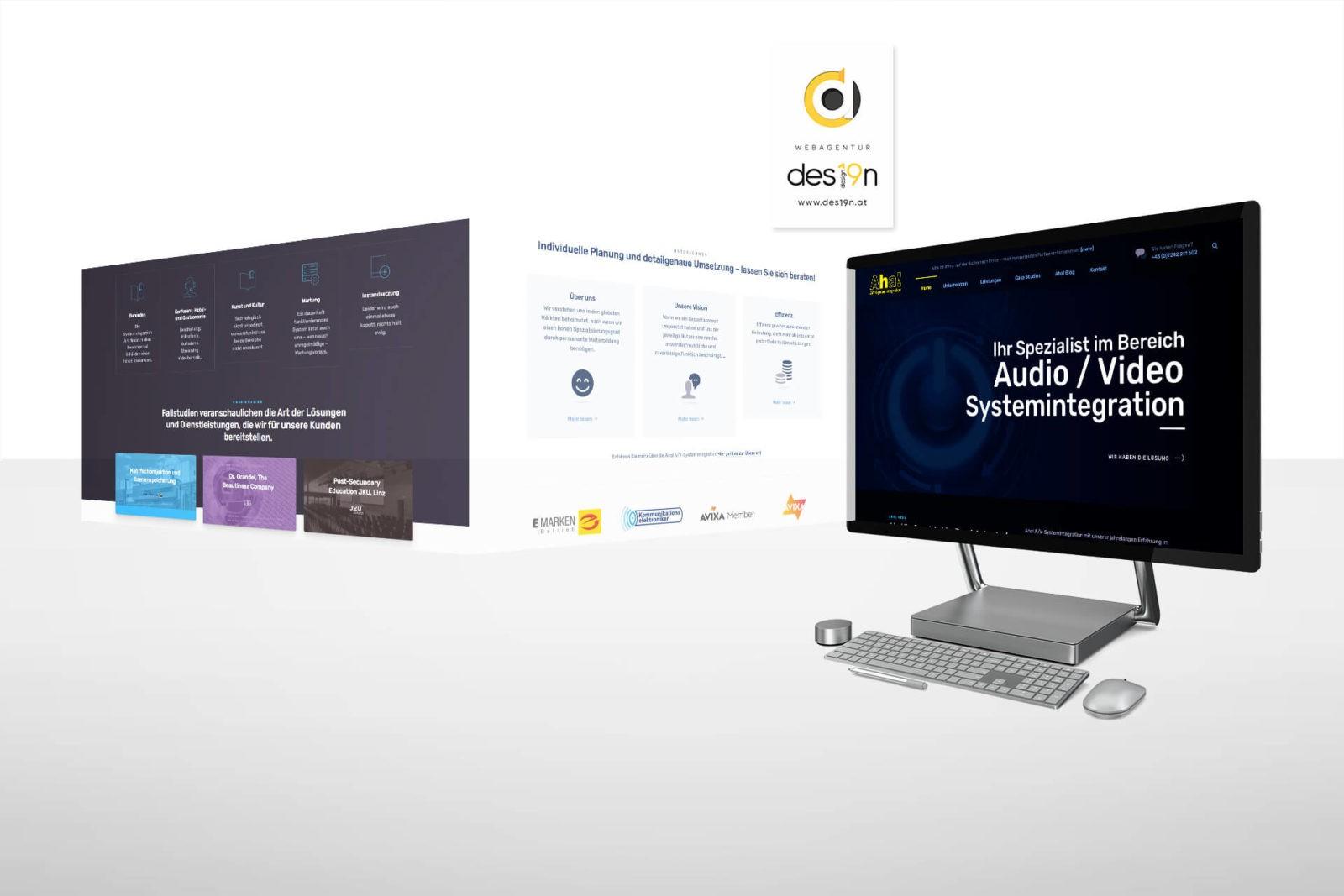 Webdesign für Aha! A/V-Systemintegration