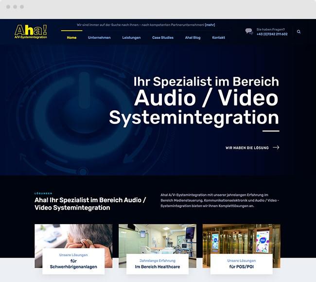 Kunde Webdesign für Aha! A/V-Systemintegration