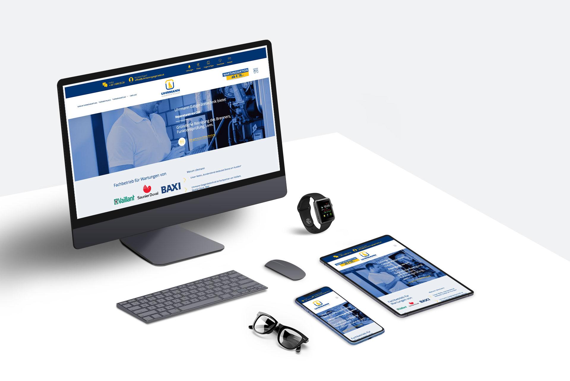 Responsive Webdesign für Uhrmann Heiztechnik