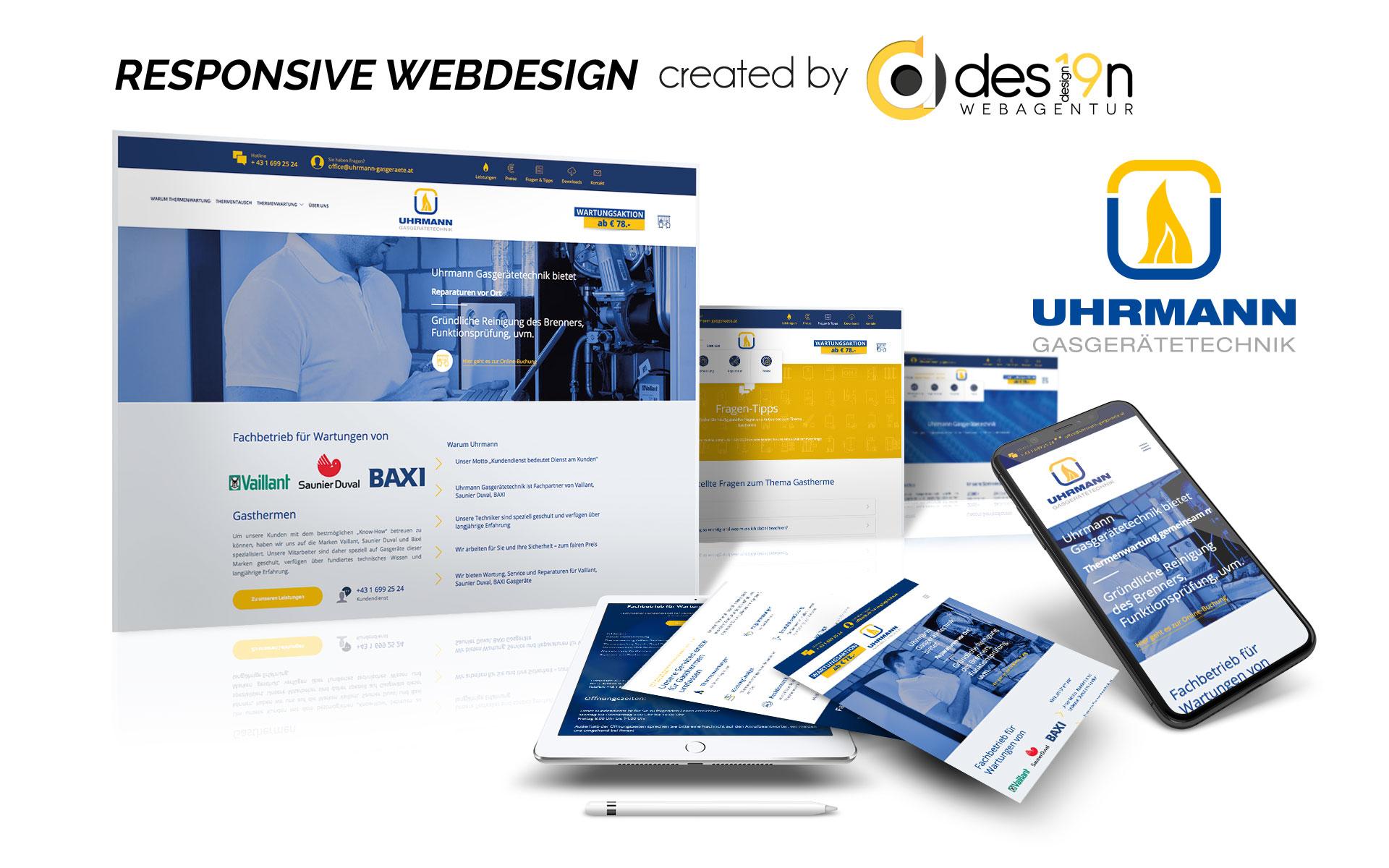 Webdesign für Uhrmann Heiztechnik Wien