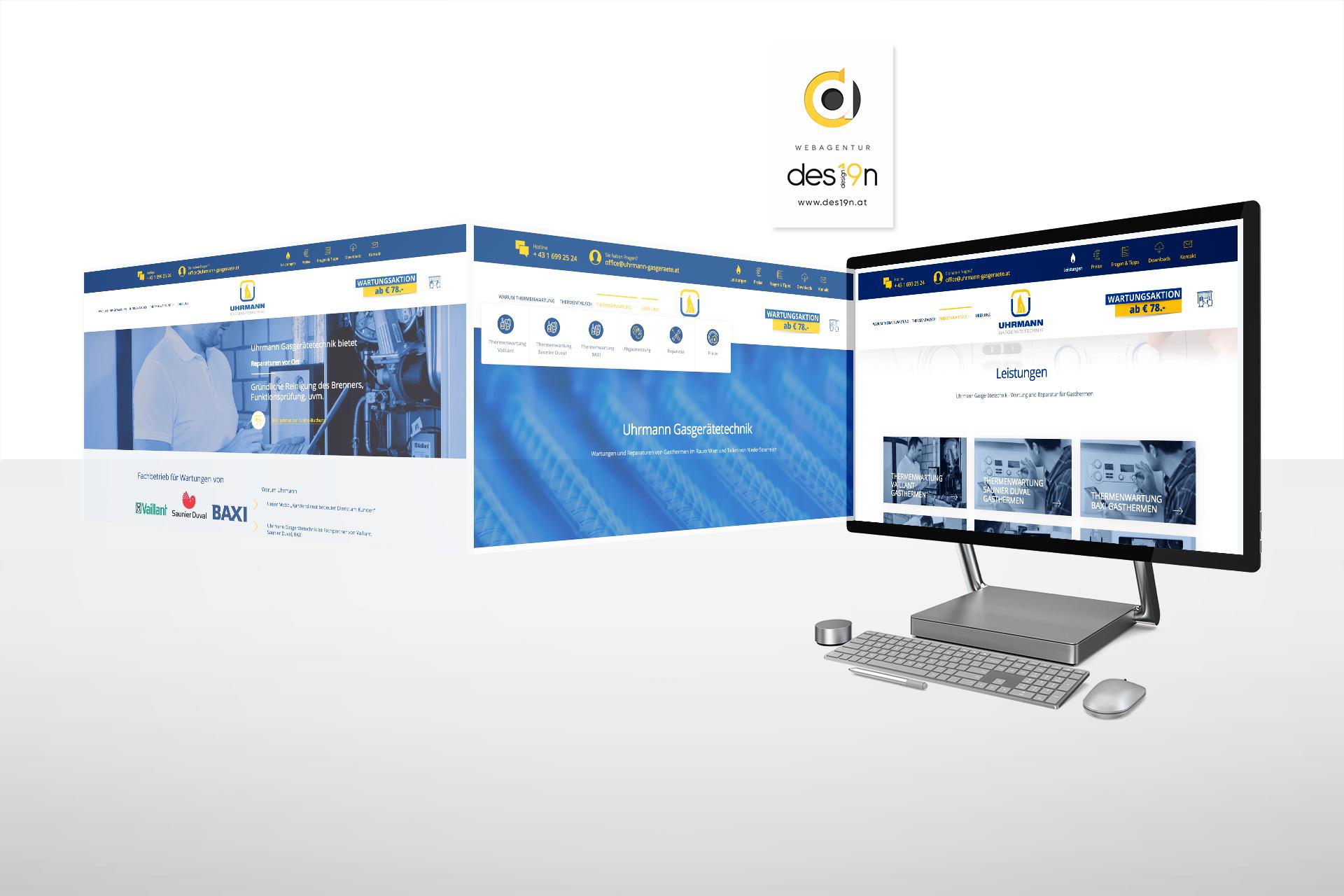 Responsive Webdesign für Uhrmann Heiztechnik Wien und Umgebung