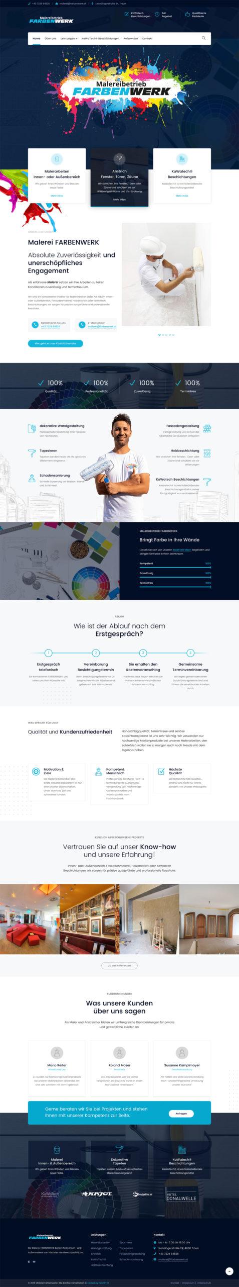 Webdesign für Malerei Farbenwerk