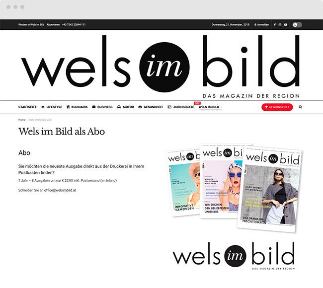 Webdesign für Wels im Bild